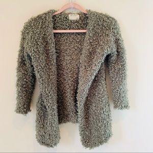 Zara Girls green cardigan sweater